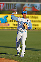 Myrtle Beach Pelicans shortstop Gleyber Torres (11) before a game against the Frederick Keys at Ticketreturn.com Field at Pelicans Ballpark on April 8, 2016 in Myrtle Beach, South Carolina. Frederick defeated Myrtle Beach 5-2. (Robert Gurganus/Four Seam Images)