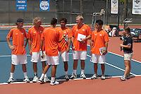 SAN ANTONIO, TX - APRIL 15, 2006: The Prairie View A&M University Panthers vs. The University of Texas at San Antonio Roadrunners Men's Tennis at the UTSA Tennis Center. (Photo by Jeff Huehn)