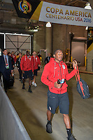 Houston, TX - Tuesday June 21, 2016: United States arriving prior to a Copa America Centenario semifinal match between United States (USA) and Argentina (ARG) at NRG Stadium.