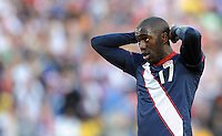 Jozy Altidore of USA looks dejected