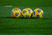 Several Serie A winter balls are seen on the pitch during the Serie A football match between Spezia Calcio and Atalanta BC at Dino Manuzzi stadium in Cesena (Italy), November 20th, 2020. Photo Andrea Staccioli / Insidefoto