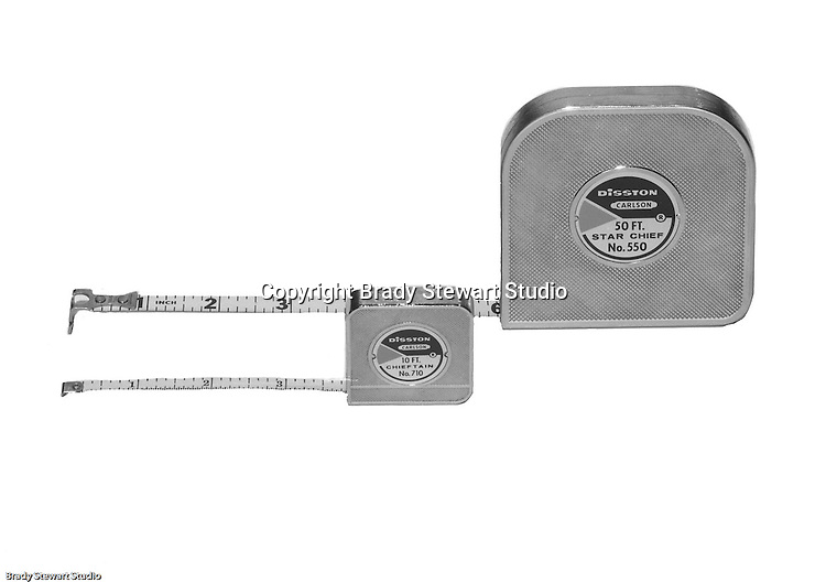 Client: H.K. Porter Company<br /> Ad Agency:<br /> Contact:<br /> Product: Disston Star Chief Tape Measures<br /> Location: Brady Stewart Studio, 211 Empire Building in Pittsburgh<br /> <br /> Disston started as the Keystone Saw Works outside Philadelphia PA. The company was very innovative and was world renown for high quality industrial and consumer saws.  <br /> In the early 1950s, with mounting debt and lack of family interest to keep the business going, the family sold the business to H.K. Porter in 1955.