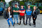 At the Paudie Fitzmaurice Tractor Run in Castleisland on Sunday, l to r: Laura Fitzmaurice, JJ O'Connor, Oisin Shanahan, Dan Dennehy and Ava Fitzmaurice (All Castleisland).