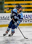 30 November 2018: University of Maine Black Bear Defender Anna Zíková, a Sophomore from Ceský Tešín, Czech Republic, in second period action against the University of Vermont Catamounts at Gutterson Fieldhouse in Burlington, Vermont. The Lady Bears defeated the Lady Cats 2-1 in the first game of their 2-game Hockey East series. Mandatory Credit: Ed Wolfstein Photo *** RAW (NEF) Image File Available ***