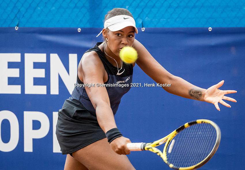 Amstelveen, Netherlands, 5  Juli, 2021, National Tennis Center, NTC, Amstelveen Womans Open,  Noa Liauw A Fong (NED)<br /> Photo: Henk Koster/tennisimages.com