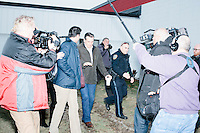 Texas senator and Republican presidential candidate Ted Cruz speaks to the media after holding a Second Amendment Rally outside Granite State Indoor Range in Hudson, New Hampshire.