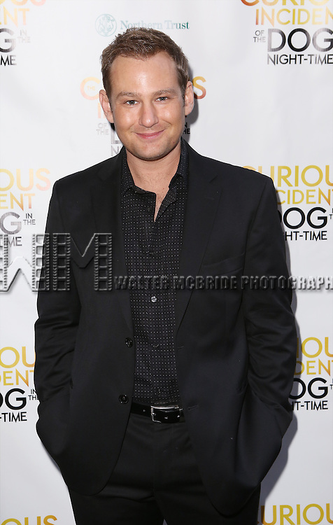Chad Kimball attends the Broadway Opening Night Performance of 'The Curious Incident of the Dog in the Night-Time'  at the Barrymore Theatre on October 5, 2014 in New York City.