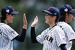 #19 Himeno Mayu of Japan (R) during the BFA Women's Baseball Asian Cup match between Japan and Hong Kong at Sai Tso Wan Recreation Ground on September 5, 2017 in Hong Kong. Photo by Marcio Rodrigo Machado / Power Sport Images