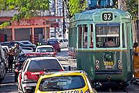 Transporte em bonde na cidade de Santos. Sao Paulo. 2011. Foto de Rogerio Reis.