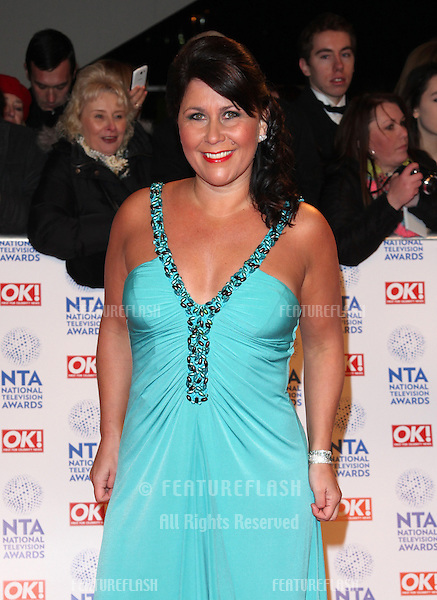 Zoe Tyler arriving for the National Television Awards 2013, at the O2 Arena, London. 23/01/2013 Picture by: Alexandra Glen / Featureflash