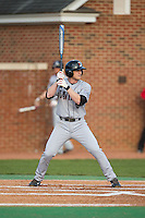 Ben Arkin (6) of the Davidson Wildcats at bat against the High Point Panthers at Willard Stadium on March 24, 2015 in High Point, North Carolina.  The Panthers defeated the Wildcats 15-2.  (Brian Westerholt/Four Seam Images)