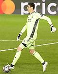 Real Madrid's Thibaut Courtois during UEFA Champions League Quarter-finals 1st leg match. April 6,2021.(ALTERPHOTOS/Acero)