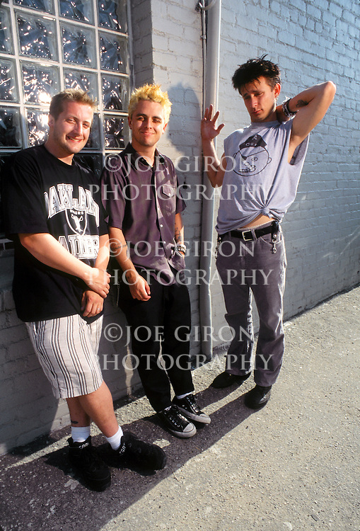 Various portrait sessions of the rock band, Green Day.