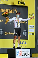12th September 2020; Lyon, France;  TOUR DE FRANCE 2020- UCI Cycling World Tour during covid-19 pandemic. Stage 14 from Clermont-Ferrand to Lyon on the 12th of September. Soren Kragh Andersen Denmark Team Sunweb on the podium