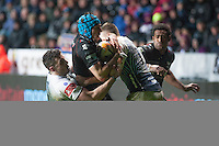 Friday 21 March 2014<br /> Pictured:Justin Tipuric ( blue cap) <br /> Re: Rabo Direct PRO12 Match Ospreys vs Cardiff Blues at the Liberty Stadium, Swansea, Wales