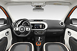 Stock photo of straight dashboard view of 2021 Renault Twingo-Electric Vibes 5 Door Hatchback Dashboard