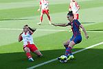 Liga IBERDROLA 2020-2021. Jornada: 10<br /> FC Barcelona vs Santa Teresa: 9-0.<br /> Mireya Garcia vs Melanie Serrano.