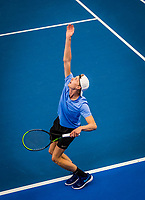 Amstelveen, Netherlands, 16  December, 2020, National Tennis Center, NTC, NK Indoor, National  Indoor Tennis Championships,  Doubles :   Gijs Brouwer (NED) <br /> Photo: Henk Koster/tennisimages.com