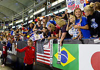 Carson, CA - Thursday August 03, 2017: Morgan Brian, Fans during a 2017 Tournament of Nations match between the women's national teams of the United States (USA) and Japan (JAP) at StubHub Center.