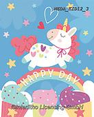 Dreams, CHILDREN, KINDER, NIÑOS, paintings+++++,MEDAKID12/3,#K#, EVERYDAY ,unicorn,unicorns