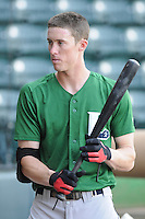 Outfielder Drew Muren (20) of the Lexington Legends, a Houston Astros affiliate, prior to a game against the Greenville Drive on May 2, 2012, at Fluor Field at the West End in Greenville, South Carolina. Lexington won, 4-2. (Tom Priddy/Four Seam Images)