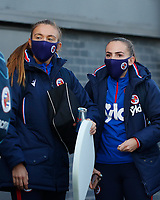 Grace Moloney and Lily Woodham Woodham of Reading arrives to the stadium during Tottenham Hotspur Women vs Reading FC Women, Barclays FA Women's Super League Football at the Hive Stadium on 7th November 2020