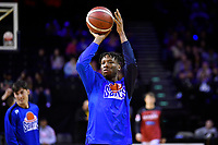 Kerwin Roach of the Wellington Saints warms up before the round one NBL match between the Wellington Saints and the Canterbury Rams at TSB Bank Arena, Wellington, New Zealand on Friday 30 April 2021.<br /> Photo by Masanori Udagawa. <br /> www.photowellington.photoshelter.com