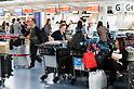 Crowds at Tokyo's Haneda Airport ahead of the Japan Golden Week holiday