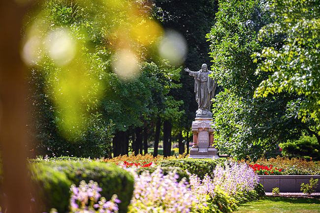 August 31, 2019; Main Quad Jesus statue (Photo by Matt Cashore/University of Notre Dame)