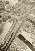 historical aerial photograph Newark Liberty International Airport (EWR), Newark, Essex County,  New Jersey, 1966