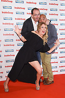 Liam Fox, Bhasker Patel and Michelle Hardwick<br /> at the Inside Soap Awards 2016 held at the Hippodrome Leicester Square, London.<br /> <br /> <br /> ©Ash Knotek  D3157  03/10/2016