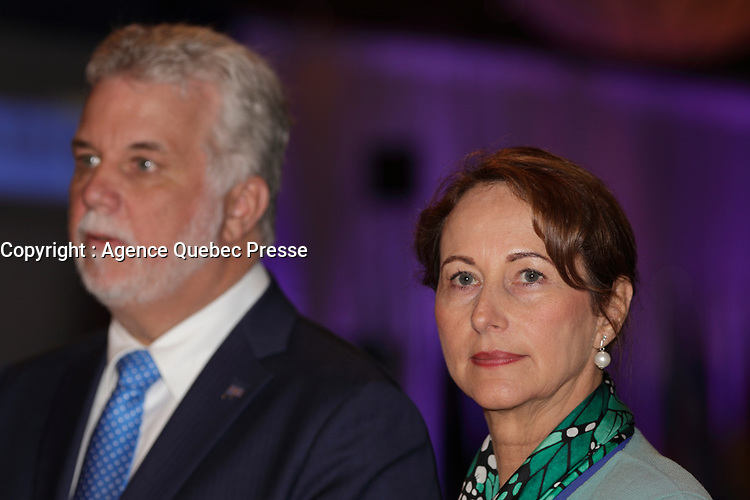 Montreal, CANADA, June, 2015  File Photo.  <br /> <br /> Segolene Royal<br /> <br /> ,attend the The International Economic Forum of the Americas <br /> <br /> Photo :   Pierre Roussel - AQP