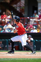 Erie Seawolves right fielder Jason Krizan (18) at bat during a game against the Altoona Curve on July 10, 2016 at Jerry Uht Park in Erie, Pennsylvania.  Altoona defeated Erie 7-3.  (Mike Janes/Four Seam Images)