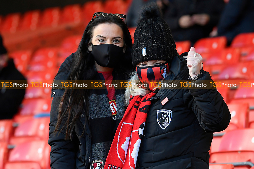 AFC Bournemouth fans are back at The Vitality Stadium  during AFC Bournemouth vs Huddersfield Town, Sky Bet EFL Championship Football at the Vitality Stadium on 12th December 2020