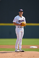 Somerset Patriots pitcher Ken Waldichuk (26) during a game against the Hartford Yard Goats on September 12, 2021 at TD Bank Ballpark in Bridgewater, New Jersey.  (Mike Janes/Four Seam Images)