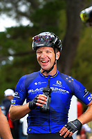 Aaron Gate of New Zealand/Black Spoke Pro Cycling Academy after winning stage one. Day one of the NZ Cycle Classic UCI Oceania Tour in Wairarapa, New Zealand on Wednesday, 15 January 2020. Photo: Dave Lintott / lintottphoto.co.nz