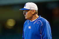 Kentucky Wildcats head coach Gary Henderson #20 prior to the game against the Houston Cougars at Minute Maid Park on March 5, 2011 in Houston, Texas.  Photo by Brian Westerholt / Four Seam Images