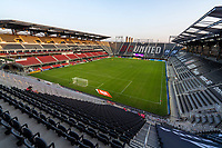 WASHINGTON, DC - SEPTEMBER 06: D.C. United players enter the pitch at Audi Field during a game between New York City FC and D.C. United at Audi Field on September 06, 2020 in Washington, DC.