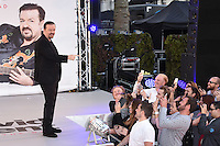 """Ricky Gervais<br /> arrives for the """"David Brent: Life on the Road"""" premiere at the Odeon Leicester Square, London.<br /> <br /> <br /> ©Ash Knotek  D3143  10/08/2016"""