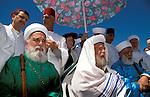 Samaria, the Samaritan Passover Sacrifice on Mount Gerizim, Samaritan Priests&#xA;<br />