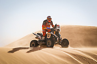 5th January 2021; Dakar Rally stage 3; 163 Copetti Pablo (usa), Yamaha, MX Devesa By Berta, Motul, Quad, action during the 3rd stage of the Dakar 2021 between Wadi Al Dawasir and Wadi Al Dawasir, in Saudi Arabia on January 5, 2021