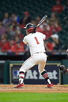 Rey Fuentes III (1) of the Houston Cougars at bat against the Kentucky Wildcats in game two of the 2018 Shriners Hospitals for Children College Classic at Minute Maid Park on March 2, 2018 in Houston, Texas.  The Wildcats defeated the Cougars 14-2 in 7 innings.   (Brian Westerholt/Four Seam Images)