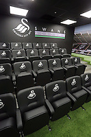 The analysis room at the new Swansea City FC youth academy facilities in Landore, south Wales, UK. Thursday 25 Faberuary 2016