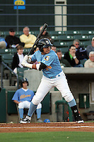 Myrtle Beach Pelicans 3rd baseman Christian Villanueva #14 at bat during a game against the Frederick Keys at Tickerreturn.com Field at Pelicans Ballpark on April 24, 2012 in Myrtle Beach, South Carolina. Frederick defeated Myrtle Beach by the score of 8-3. (Robert Gurganus/Four Seam Images)