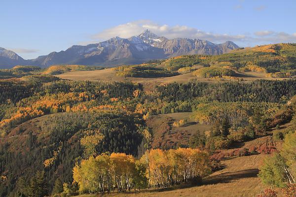 Wilson Peak (14,017 ft), autumn San Juan Mountains, Telluride,  Colorado.
