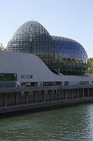 LA SEINE MUSICALE CONCUE PAR L'ARCHITECTE JAPONAIS SHIGERU BAN, ET SON PARTENAIRE FRANÇAIS JEAN DE GASTINES SUR L'ILE SEGUIN A BOULOGNE-BILLANCOURT, FRANCE, LE 19/04/2017.