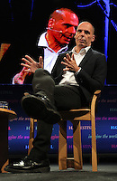 Hay on Wye, UK. Monday 30 May 2016<br /> Former Greek Finance Minister Yanis Varoufakis at the Hay Festival, Hay on Wye, Wales, UK