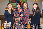 Hannah O'Halloran, Betesaida Hailegeorgis, Emily Quire and Laura Stack enjoying the CH Chemist Christmas party in the Ballyroe Heights Hotel on Saturday.