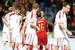 Spain's Pedro Rodriguez celebrates goal during 15th UEFA European Championship Qualifying Round match. November 15,2014.(ALTERPHOTOS/Acero)
