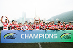 Japan National Rugby Team celebrating with his trophy after winning Hong Kong during the Asia Rugby Championship 2017 match between Hong Kong and Japan on May 13, 2017 in Hong Kong, China. Photo by Marcio Rodrigo Machado / Power Sport Images